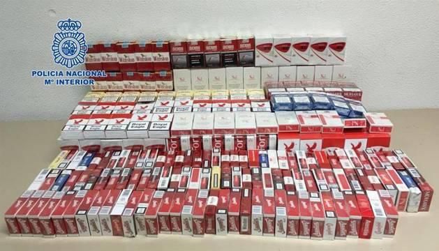 Incautación de tabaco por la Policía Nacional