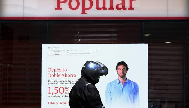 Imagen de una sucursal del Banco Popular