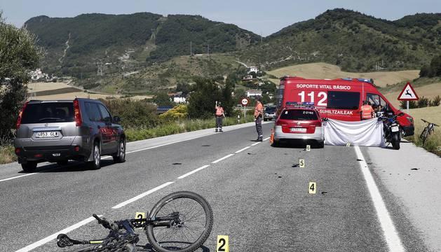 Un ciclista falleció este sábado 10 de junio en un accidente registrado en la N-240-A en la localidad de Erice de Iza.