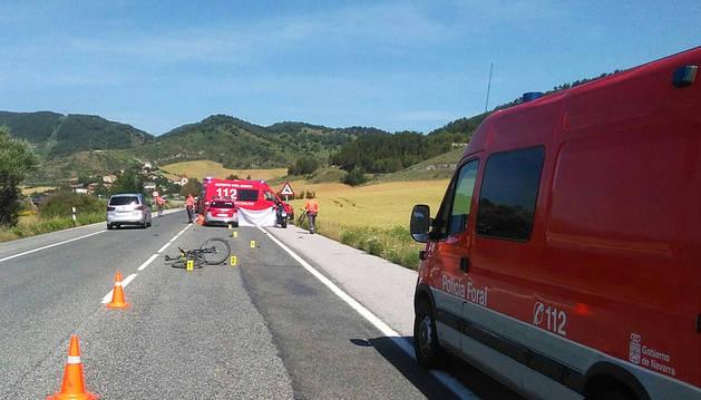 Muere un ciclista atropellado en Erice de Iza