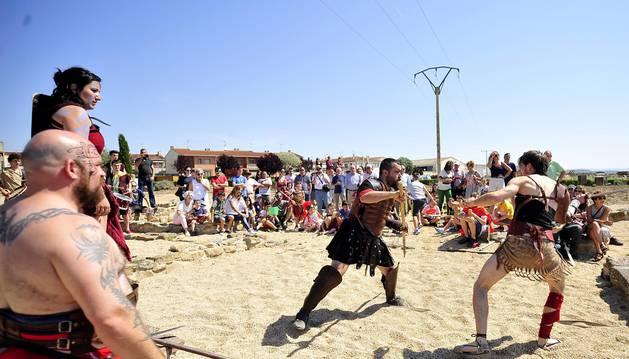 Imágenes de las actividades de las jornadas romanas en Santacara 2017