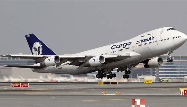 Un avión de carga de la aerolínea IranAir