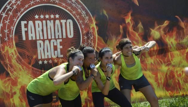 Participantes de la Farinato Race, en el 'photo-call'.