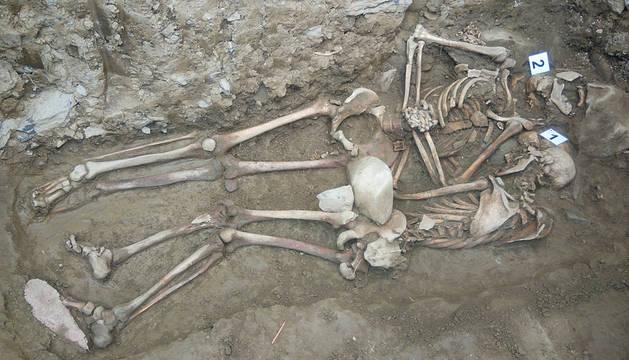Exhumados los restos de dos presos de la fuga de Ezkaba