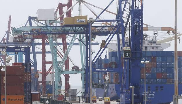 El puerto de Valencia en la jornada de ayer