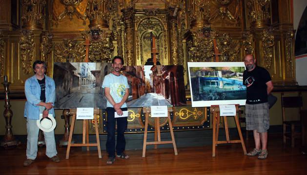 De izda. a dcha.: Raúl Gil Burés (segundo clasificado); José Miguel Arranz de Juan (ganador); y Carlos Espiga Alonso (tercer clasificado).