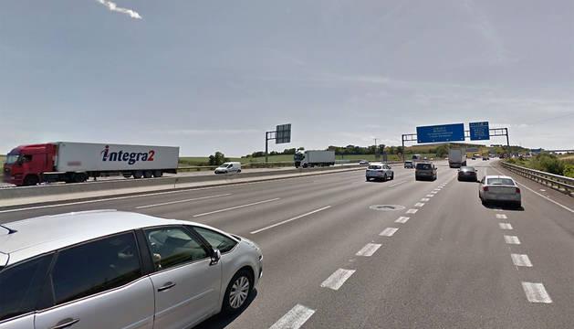 La autopista AP-7 a la altura de Santa Perpètua de Mogoda (Barcelona).