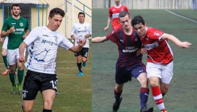Alvaro Collado (i) y Jokin Reche (d) firman por dos años con Osasuna Promesas