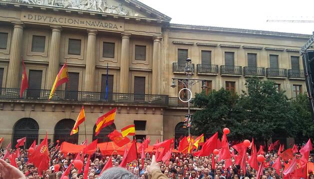 Ollo explicará la grabación del día de la manifestación de la bandera
