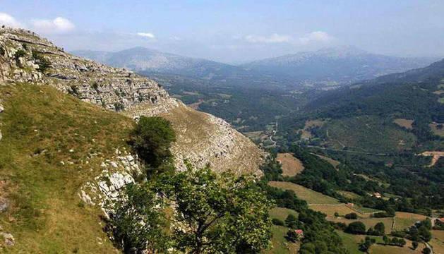 Vista de la Vía Ferrata de Socueva.