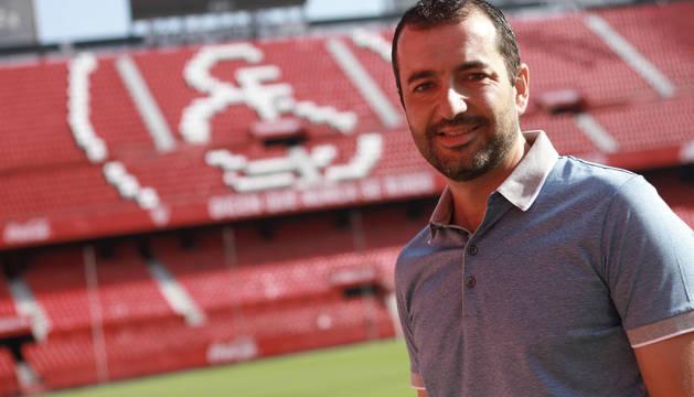 Diego Martínez, en una imagen en el estadio Ramón Sánchez Pizjuán de Sevilla.