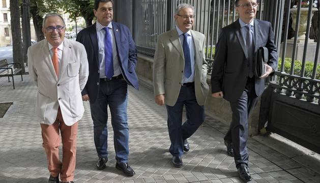 Luis Sabalza, Pedro Baile, Fidel Medrano y Ángel Ardanaz.