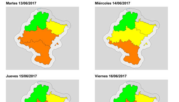 Riesgo alto de incendios hasta el viernes en la Zona Media y la Ribera de Navarra
