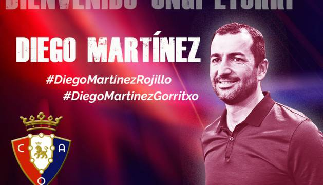 Osasuna hace oficial el fichaje de Diego Martínez