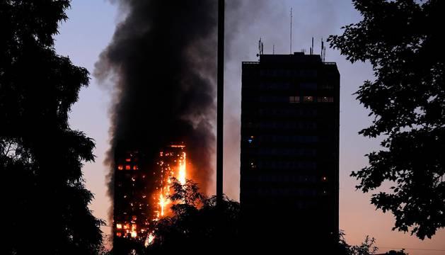 Incendio de la Torre Grenfell, en Londres.