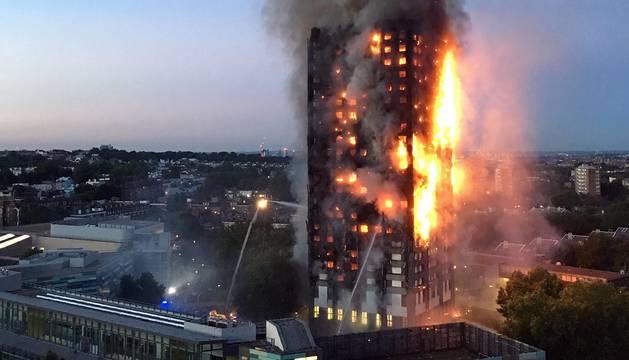 Incendio de la Torre Grenfell, en Londres