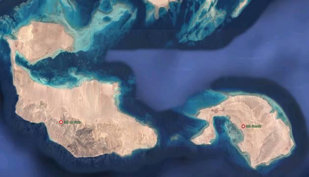 Las islas que Egipto ha traspasado a territorio saudí