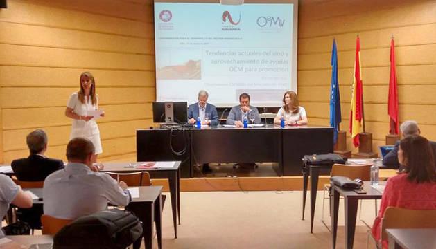 """foto de Jornada """"Herramientas para el desarrollo del sector vitivinícola II"""", que se celebró en la Estación de Viticultura y Enología de Navarra en Olite."""