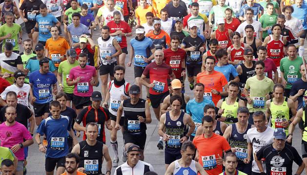 Corredores en una edición anterior de la San Fermín Marathon.