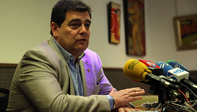 Pedro Baile, durante la rueda de prensa.