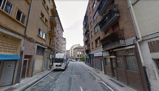 Zona de la calle Basilio Armendáriz donde ha ocurrido el desalojo.