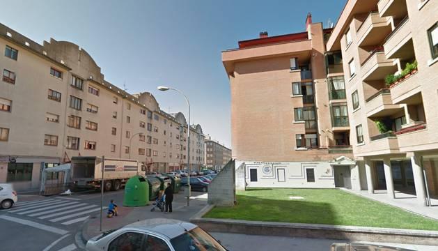 La calle Merindad de Sangüesa, en la que detuvieron al traficante