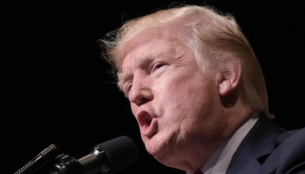 Foto Donald Trump, presidente de EE UU.