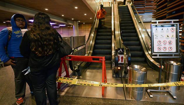 Interior del centro comercial de Bogotá donde se registró la explosión.