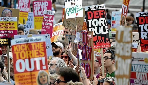 Protestas en Londres en contra del Brexit
