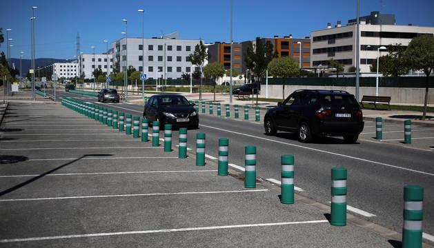 Estacionamientos clausurados desde 2010, cuando se entregó la urbanización de Belascoáin