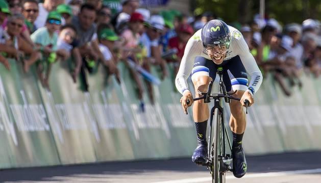 Castroviejo durante su actuación en el Tour de Suiza