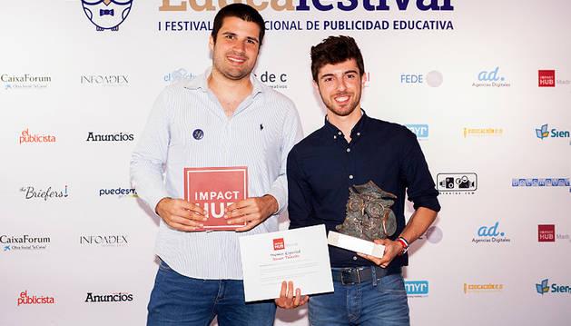 Un estudiante navarro gana un concurso nacional de publicidad educativa
