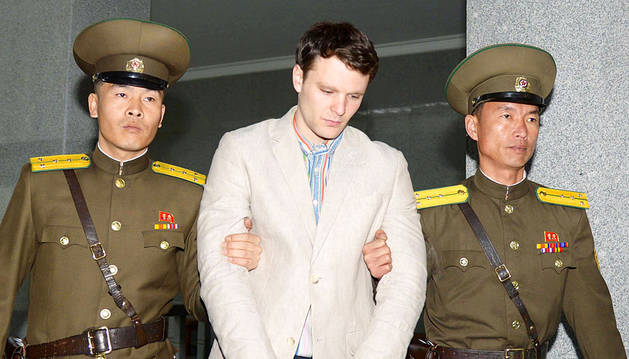Muere el estudiante americano que cayó en coma preso en Corea del Norte