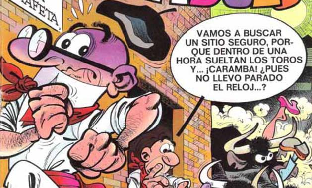 Mortadelo y Filemón, en el programa de San Fermín 2017.