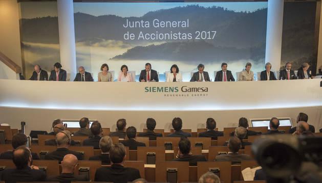 Este martes se celebró en la sede de Siemens Gamesa de Zamudio la junta general de accionistas.