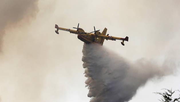 Se estrella un avión Canadair cuando combatía el fuego en Portugal