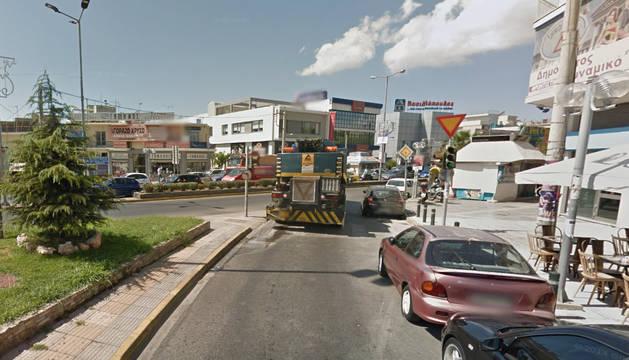 Foto del distrito, Egáleo, en el noroeste de Atenas.