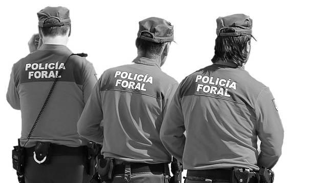 Siluetas de Policías Forales