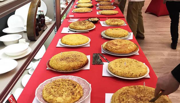 Las tortillas participantes en el concurso