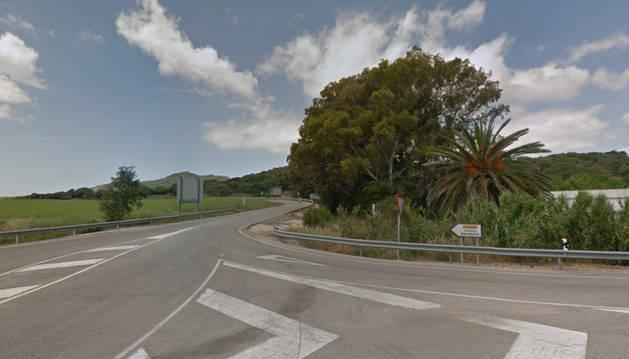 Imagen del lugar donde ocurrió el accidente.