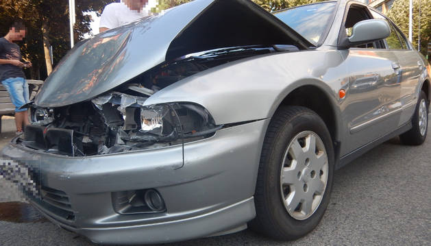 Foto de uno de los vehículos implicados en el accidente.