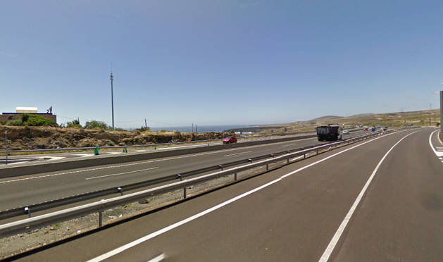 Foto de la autopista TF-1, en el sur de Tenerife.