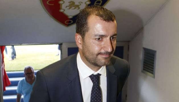 Diego Martínez, entrenador de Osasuna, el día de su presentación en El Sadar.
