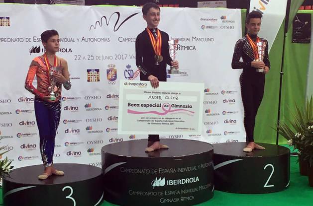 El gimnasta de Lagunak Ander Olcoz se proclama campeón de España en categoría junior