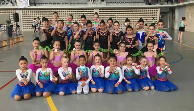La gimnasia rítmica berinianense finaliza la temporada ocupando puestos de honor