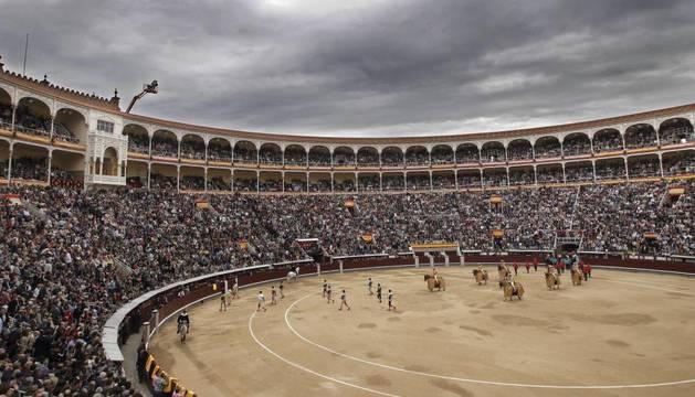 Vista general de la plaza de Las Ventas.