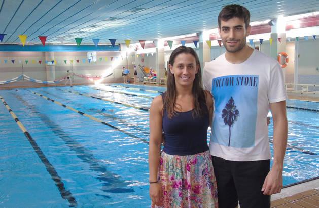 Sarai y Adonai Pérez Cidriain, un tándem de hermanos que lidera la sección de natación de Lagunak