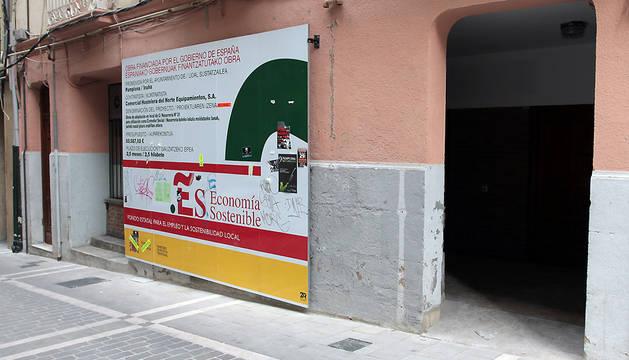 El comedor municipal para personas necesitadas, en el antiguo Oscus de la calle Navarrería.