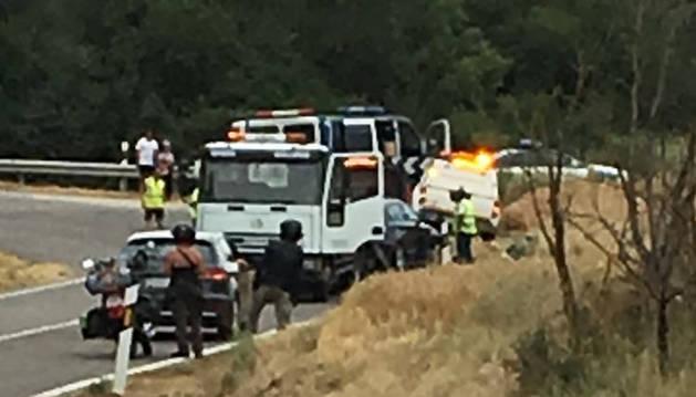 Fallece un motorista de Estella al chocar contra un coche en Huesca