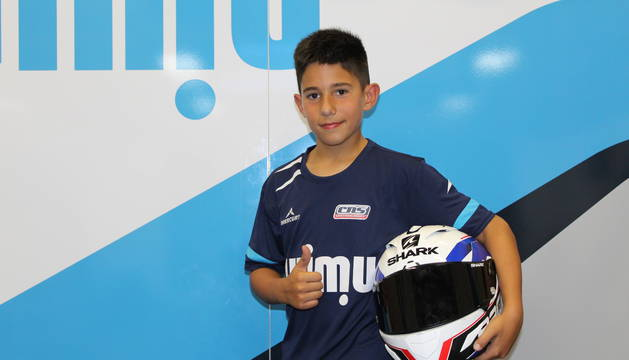 Mario Mayor Francés tras la carrera disputada ayer en el Circuito de Navarra.
